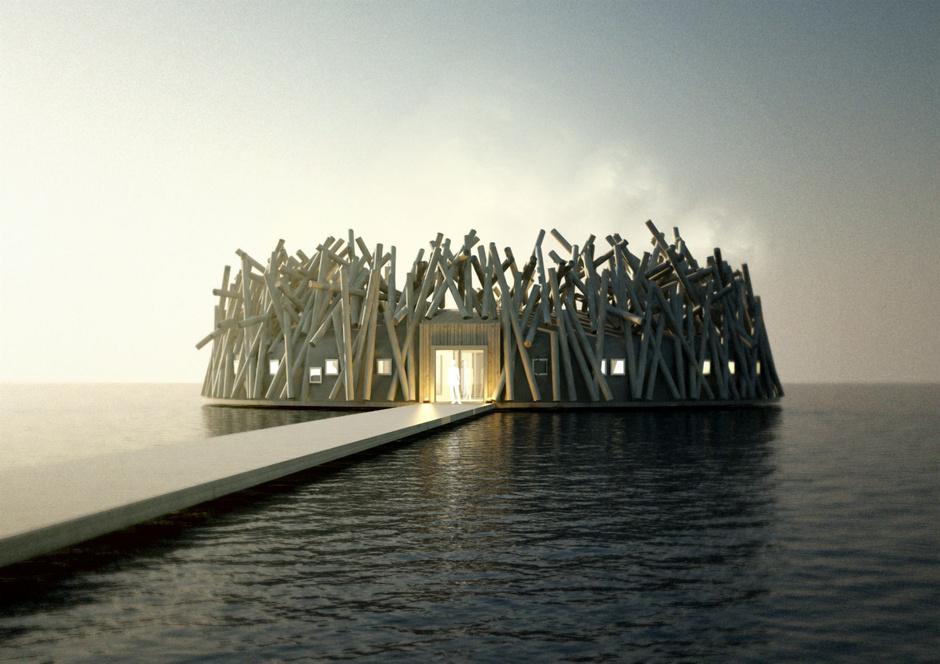 lujoso hotel en la laponia de suecia Artic bath