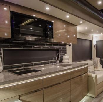 caravana porsche lujo cocina de lujo
