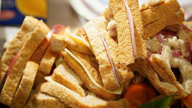 sandwich para niños de lujo