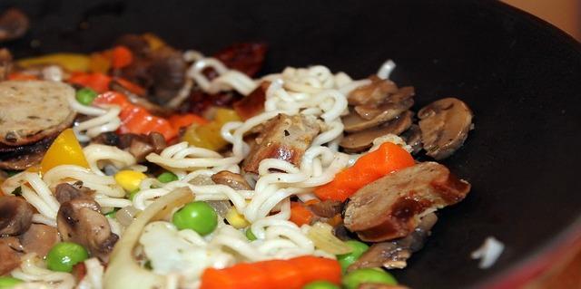 comida de lujo para solteros wok